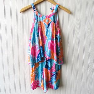 Lilly Pulitzer Womens Sleeveless Edona Romper 00